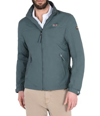 NAPAPIJRI SHELTER SUMMER MAN SHORT JACKET,BOTTLE GREEN