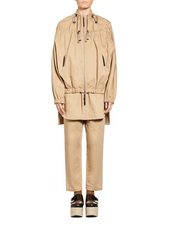 Marni Bomber jacket in cotton-and-linen drill Woman