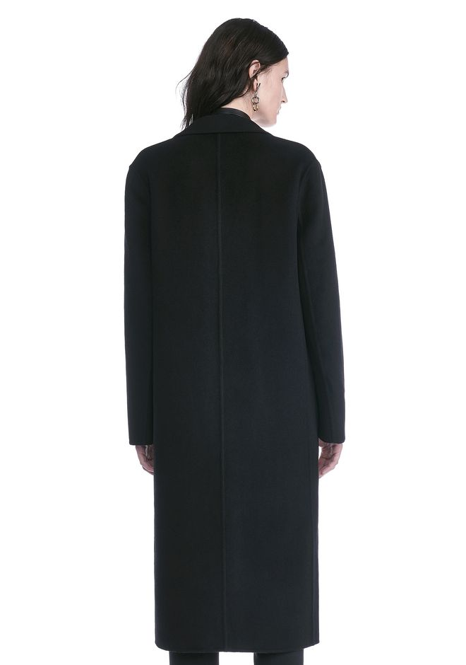 ALEXANDER WANG PEAK LAPEL LONG WOOLCOAT WITH SNAP CLOSURE DETAIL  VESTES ET VÊTEMENTS OUTDOOR Adult 12_n_d