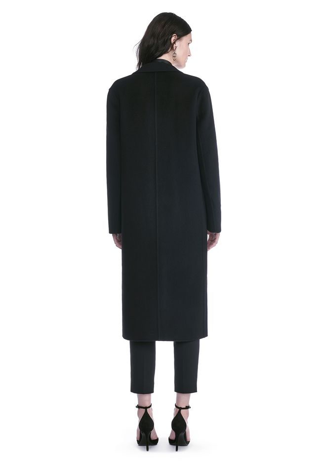 ALEXANDER WANG PEAK LAPEL LONG WOOLCOAT WITH SNAP CLOSURE DETAIL  VESTES ET VÊTEMENTS OUTDOOR Adult 12_n_r
