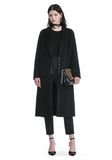 ALEXANDER WANG PEAK LAPEL LONG WOOLCOAT WITH SNAP CLOSURE DETAIL  VESTES ET VÊTEMENTS OUTDOOR Adult 8_n_f