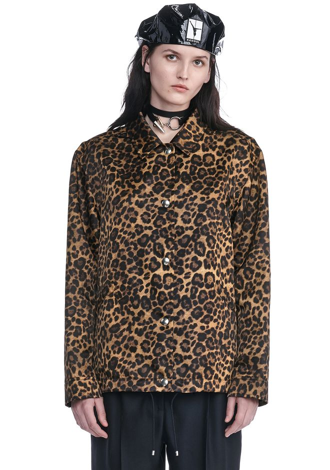 ALEXANDER WANG JACKETS AND OUTERWEAR  Women LEOPARD PRINT COACHES JACKET