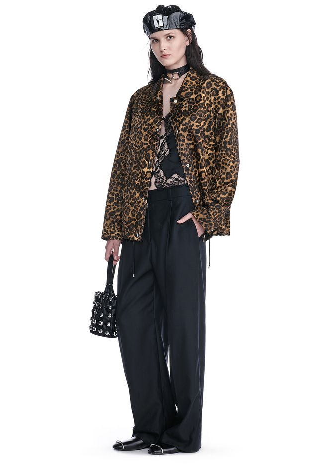 ALEXANDER WANG JACKETS AND OUTERWEAR  LEOPARD PRINT COACHES JACKET