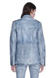 ALEXANDER WANG CLASSIC DENIM LEATHER BIKER JACKET  JACKETS AND OUTERWEAR  Adult 8_n_d
