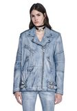 ALEXANDER WANG CLASSIC DENIM LEATHER BIKER JACKET  JACKETS AND OUTERWEAR  Adult 8_n_e