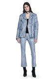 ALEXANDER WANG CLASSIC DENIM LEATHER BIKER JACKET  JACKETS AND OUTERWEAR  Adult 8_n_f