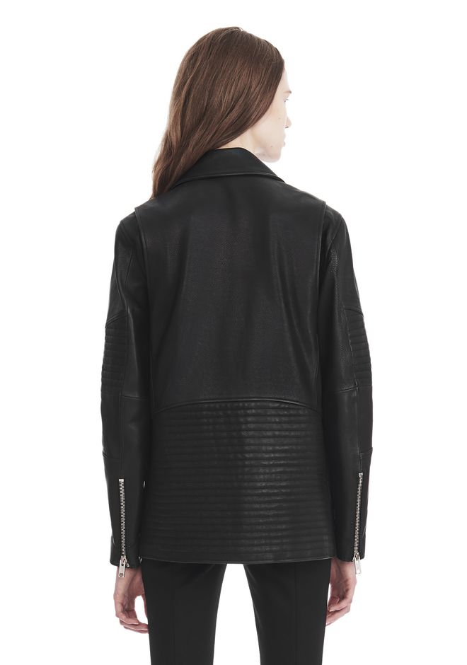 ALEXANDER WANG CLASSIC BIKER JACKET  JACKETS AND OUTERWEAR  Adult 12_n_d
