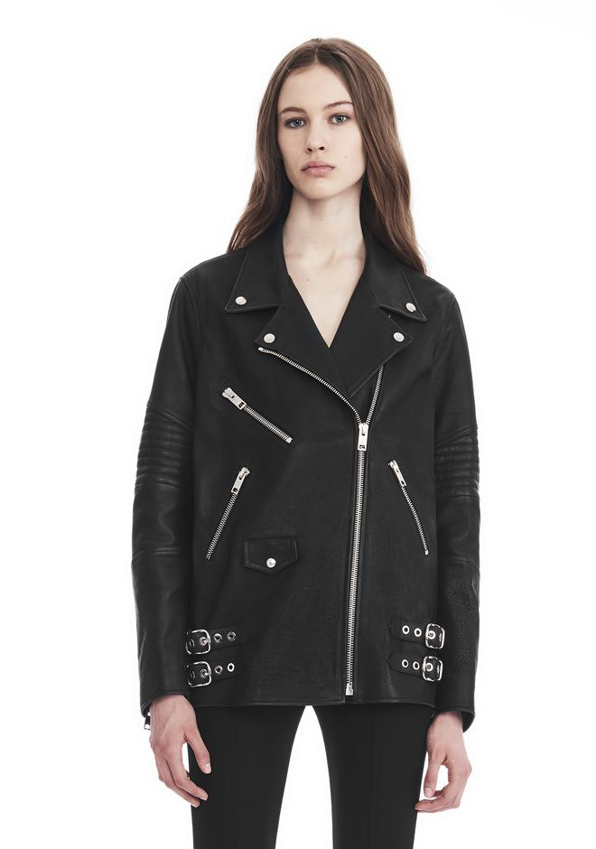 ALEXANDER WANG CLASSIC BIKER JACKET  JACKETS AND OUTERWEAR  Adult 12_n_e