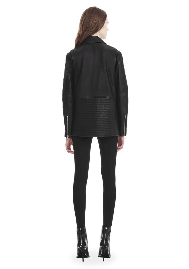 ALEXANDER WANG CLASSIC BIKER JACKET  JACKETS AND OUTERWEAR  Adult 12_n_r