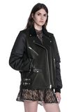 ALEXANDER WANG HYBRID MOTO BOMBER JACKET  JACKETS AND OUTERWEAR  Adult 8_n_a