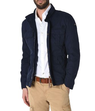 NAPAPIJRI AGOURA MAN MID-LENGTH JACKET,DARK BLUE