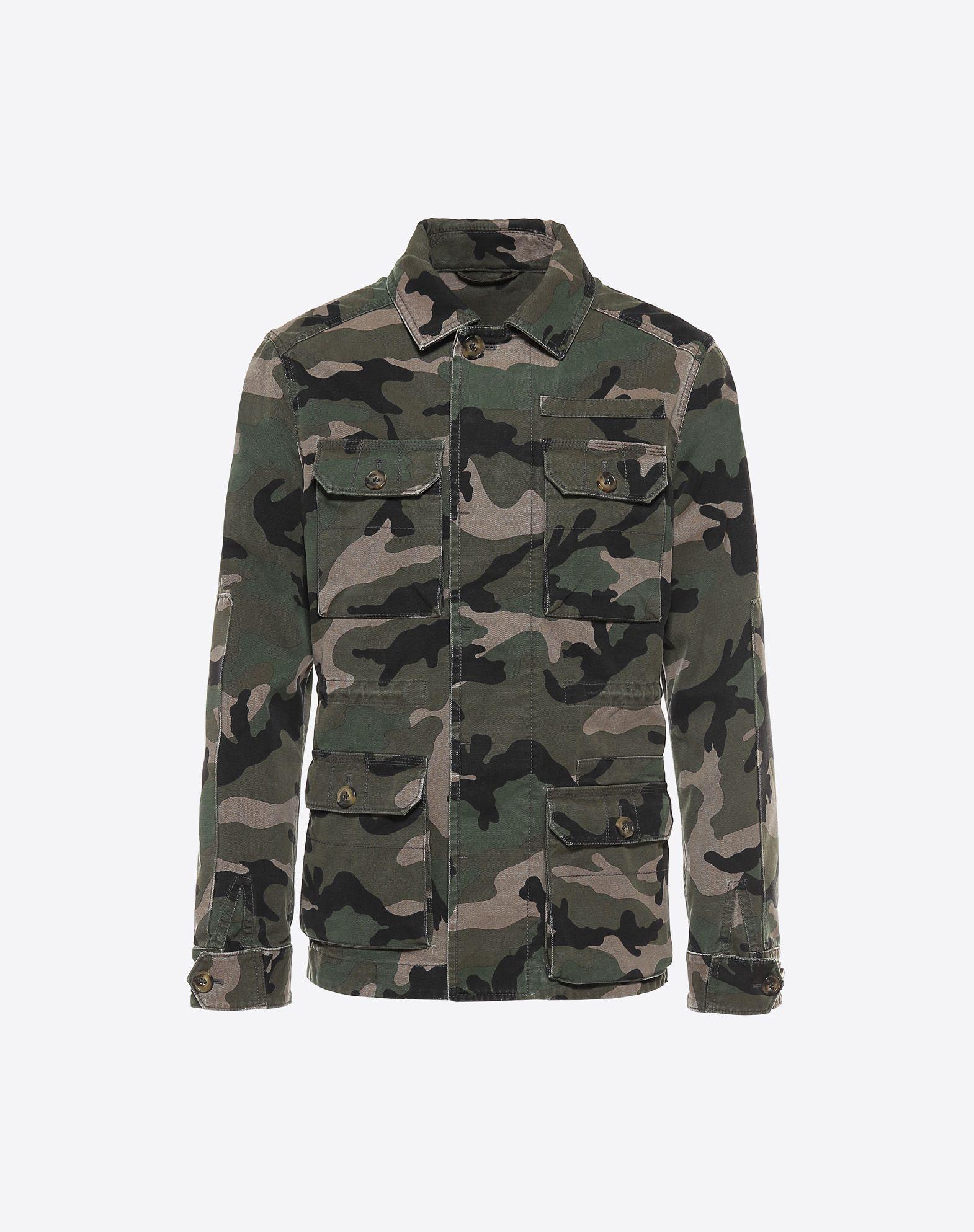 VALENTINO Lona Estampado militar Estampado Cuatro bolsillos Botones ocultos  41690695go