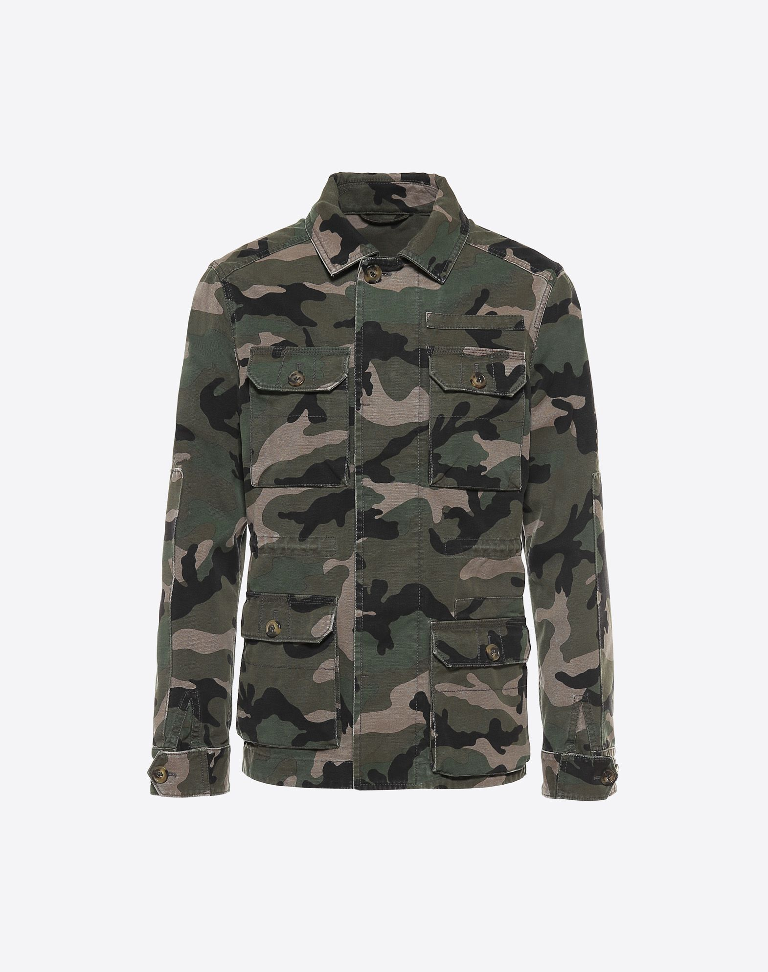 VALENTINO Canvas Camouflage design Print Four pockets Hidden buttons  41690695go