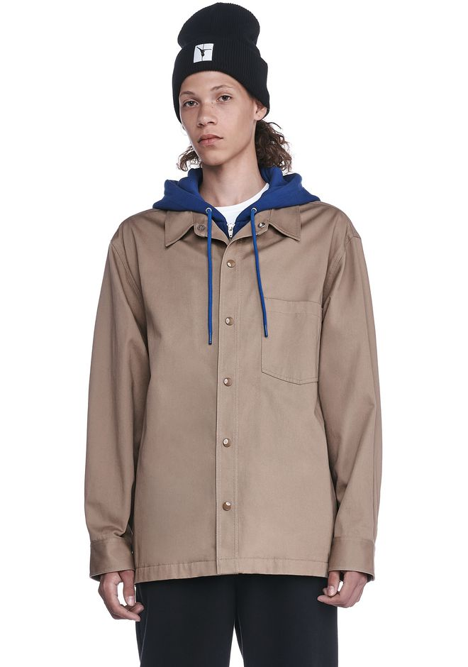 T by ALEXANDER WANG JACKETS AND OUTERWEAR  Men HOODED HYBRID JACKET