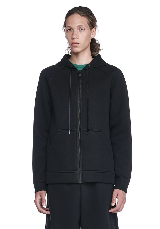 T by ALEXANDER WANG HOODIES Men SCUBA NEOPRENE HOODIE