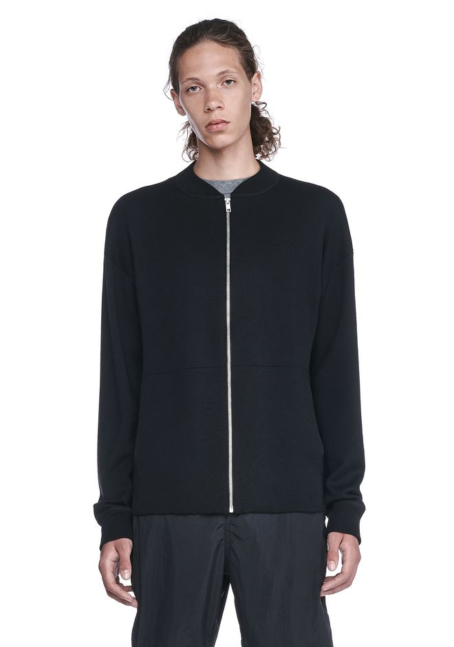 ALEXANDER WANG CARDIGANS Men  BOMBER JACKET WITH SEAMLESS POCKET