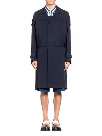 Marni Coat in light wool with buttoned belt Man
