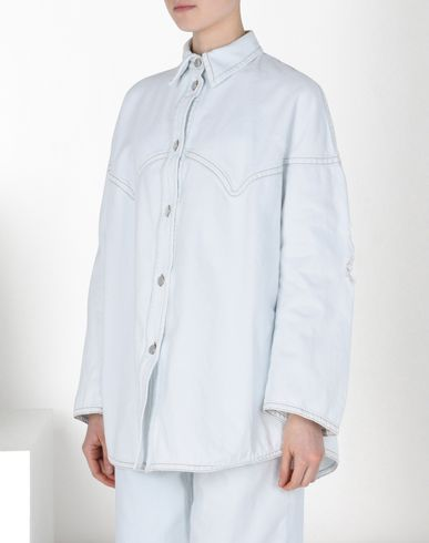MM6 by MAISON MARGIELA Mid-length jacket D Denim shirt with destroyed detail f