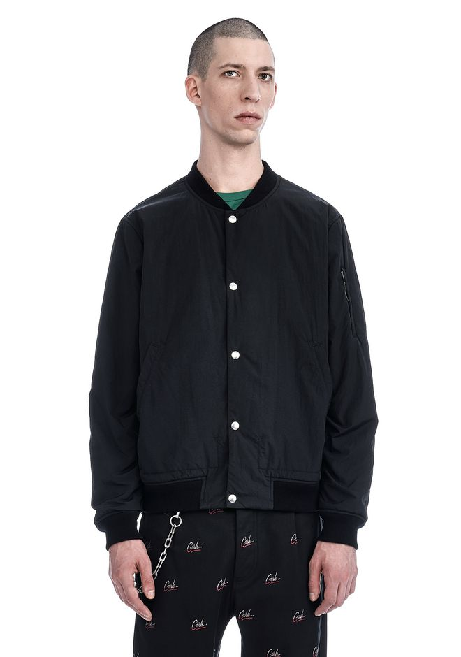 T by ALEXANDER WANG JACKETS AND OUTERWEAR  Men WASHED NYLON BOMBER