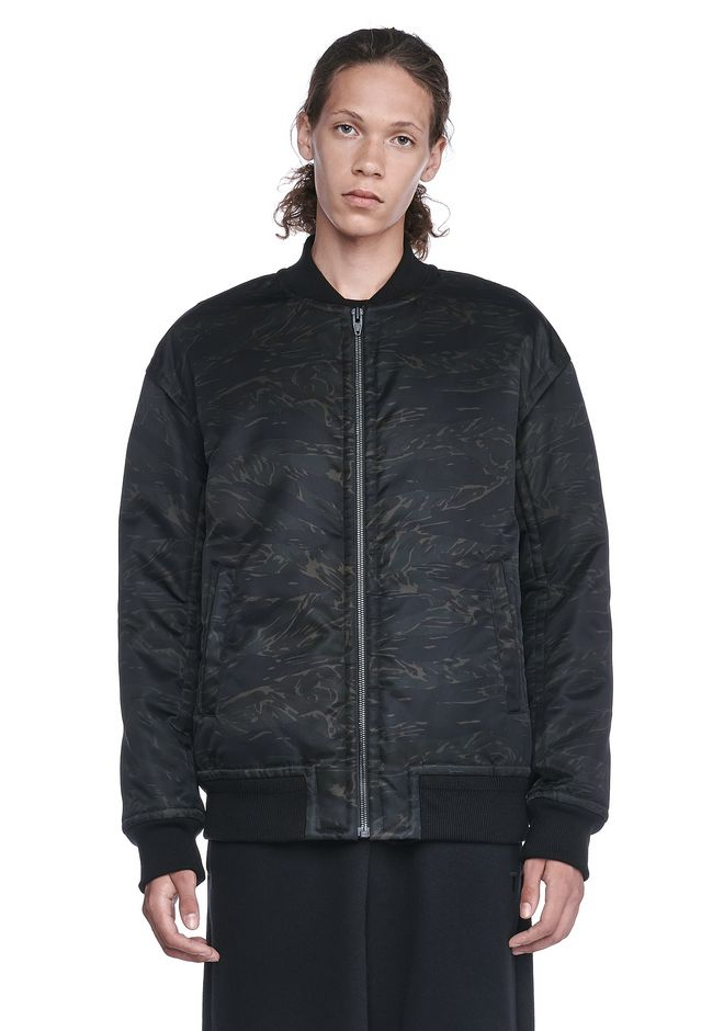 T by ALEXANDER WANG JACKETS AND OUTERWEAR  Men PRINTED NYLON BOMBER