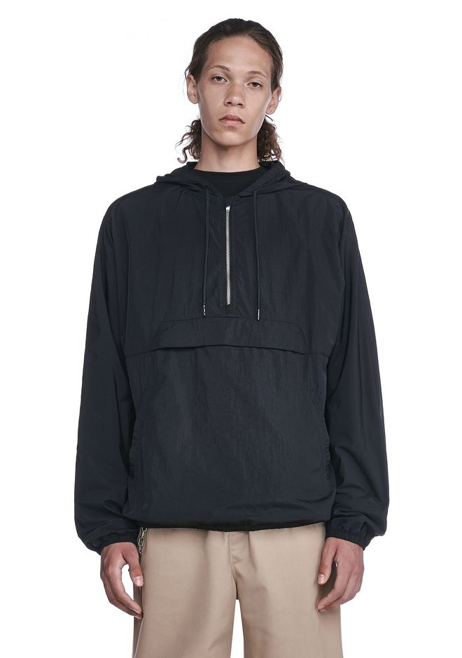 T by ALEXANDER WANG JACKETS AND OUTERWEAR  Men WASHED NYLON HOODIE
