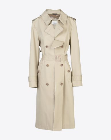 MAISON MARGIELA Water repellent trench coat Raincoat D f