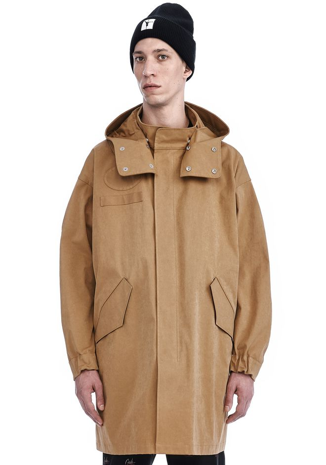ALEXANDER WANG nwvmens-apparel COMPACT TECH FISHTAIL PARKA