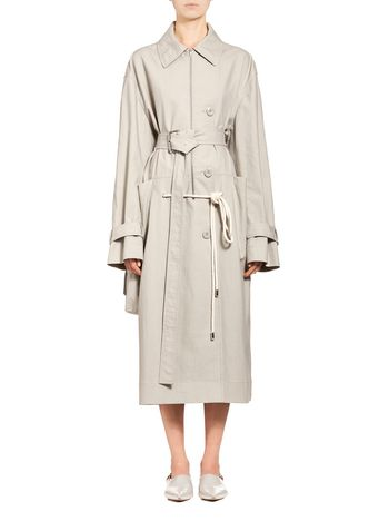 Marni Runway duster coat in cotton maxi-pocket Woman