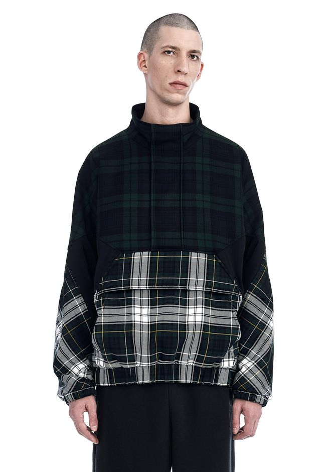 ALEXANDER WANG nwvmens-apparel TARTAN WARM-UP PULLOVER