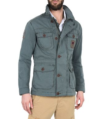 NAPAPIJRI AGAWAM MAN MID-LENGTH JACKET,BOTTLE GREEN