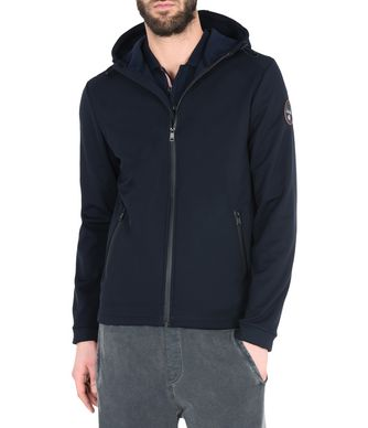 NAPAPIJRI ADDISON MAN SHORT JACKET,DARK BLUE