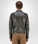 BOTTEGA VENETA BLOUSON IN DARK SERGEANT CRINKLED LAMB, INTRECCIATO DETAILS Outerwear and Jacket Man dp