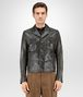BOTTEGA VENETA BLOUSON IN DARK SERGEANT CRINKLED LAMB, INTRECCIATO DETAILS Outerwear and Jacket Man fp