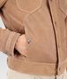 BOTTEGA VENETA BLOUSON IN NEW CIGAR SUEDE, INTRECCIATO DETAILS Coat or Jacket U ap