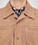 BOTTEGA VENETA BLOUSON IN NEW CIGAR SUEDE, INTRECCIATO DETAILS Coat or Jacket U ep