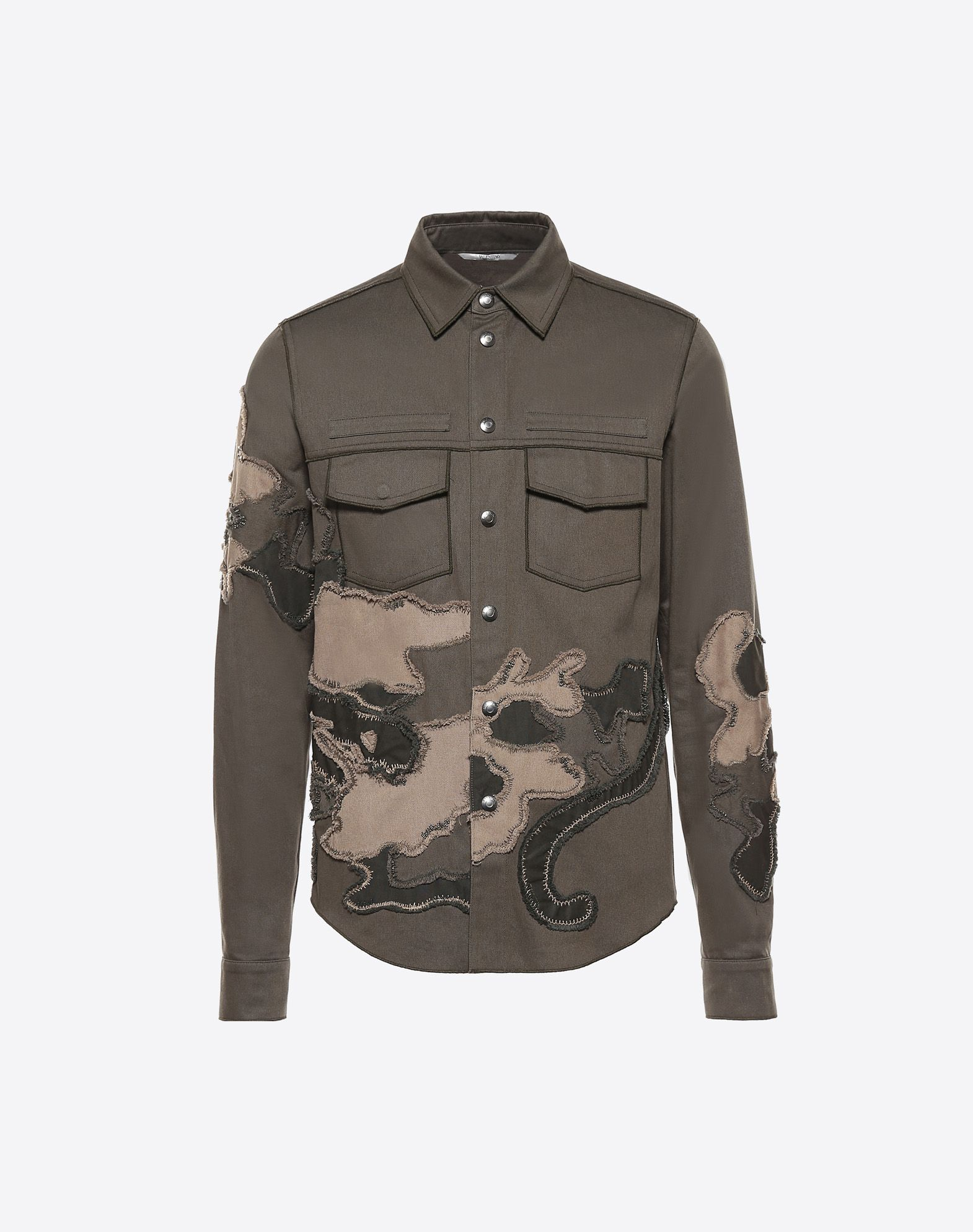 VALENTINO Gabardine Dual chest pockets Snap button closure  41696787ue