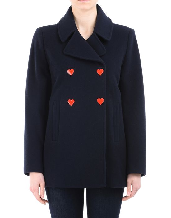 Mid-length jacket Woman LOVE MOSCHINO