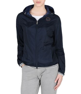 NAPAPIJRI ATALAYA REVERSIBLE JACKET WOMAN SHORT JACKET,DARK BLUE