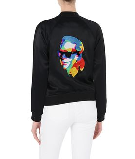 KARL LAGERFELD EMBROIDERED BOMBER