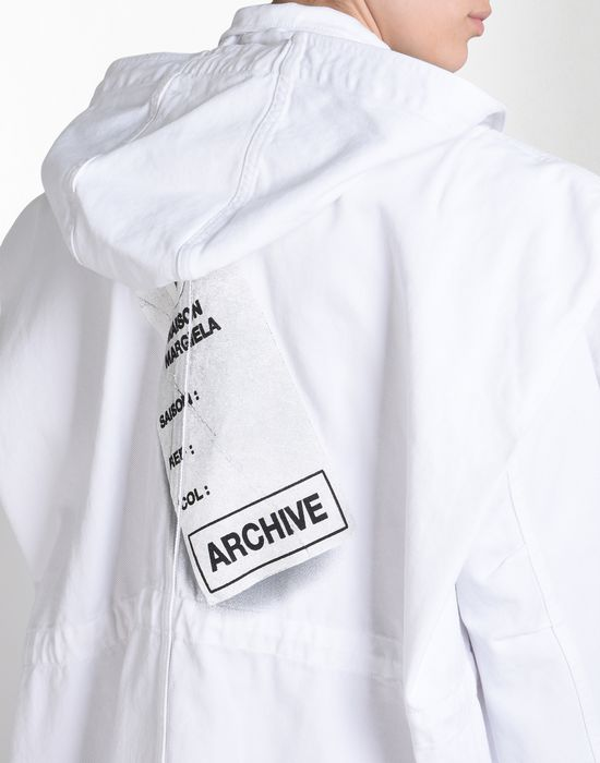 MM6 by MAISON MARGIELA Oversize sports jacket with 'Archive' print Full-length jacket D a