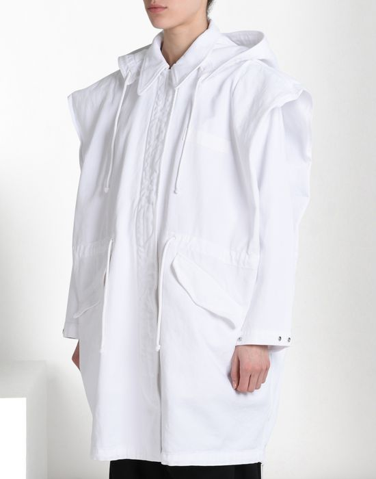 MM6 by MAISON MARGIELA Oversize sports jacket with 'Archive' print Full-length jacket D f