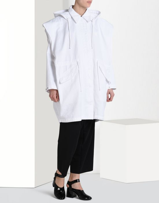 MM6 by MAISON MARGIELA Oversize sports jacket with 'Archive' print Full-length jacket D r