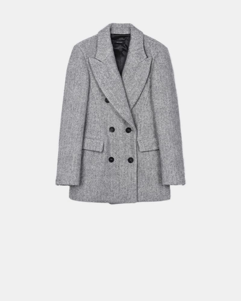 Eley double breasted boyfriend alpaca coat ISABEL MARANT