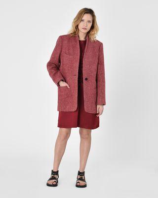 Elis oversize alpaca coat