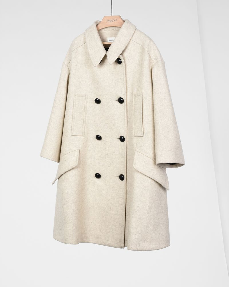 1b3d9ba3ae58 ... Flicka oversize wool pea coat ISABEL MARANT ÉTOILE