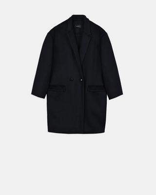 Manteau légèrement oversize en laine et cachemire Filipo
