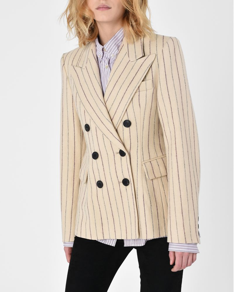 Kelsey double breasted striped linen jacket  ISABEL MARANT