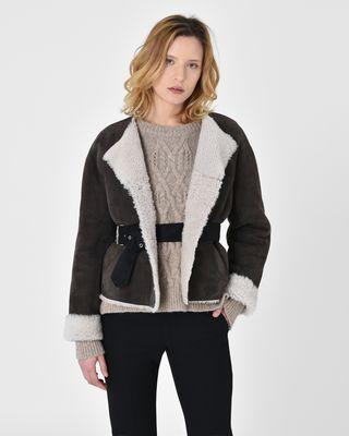Alison Reversible shearling coat