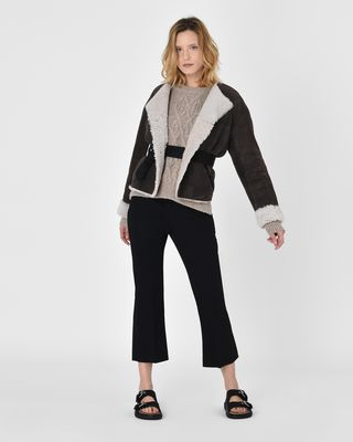 ISABEL MARANT COAT Woman Alison Reversible shearling coat r