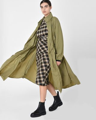ISABEL MARANT ÉTOILE COAT Woman Copal Long waterproof windbreaker coat r